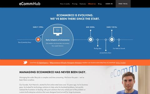 Screenshot of About Page ecommhub.com - About Us | eCommHub - captured Oct. 28, 2014