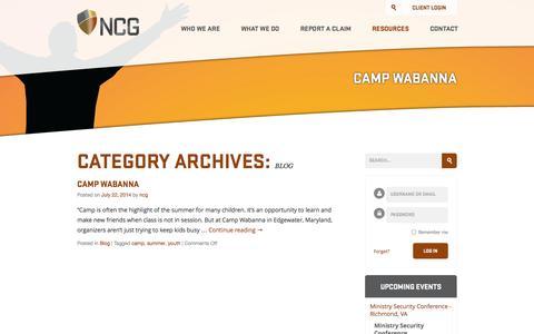 Screenshot of Blog ncginsurance.com - Blog Archives Archive | NCG Insurance - captured Sept. 30, 2014