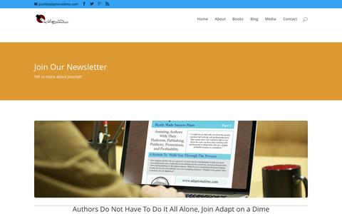 Screenshot of Signup Page adaptonadime.com - Join   Adapt on a Dime Publishing - captured Sept. 25, 2015