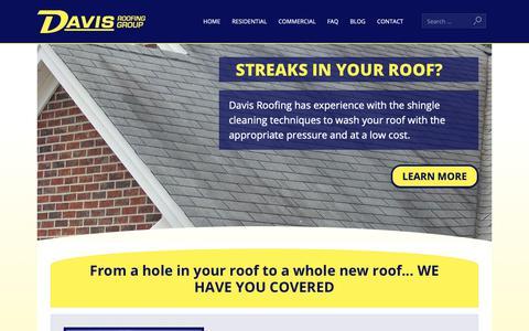 Screenshot of Home Page davisroofingandmaintenance.com - Home Page - Davis Roofing - captured Oct. 7, 2018