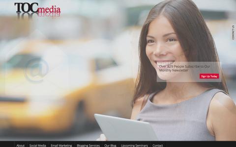 Screenshot of Home Page toc-media.com - TOCmedia Digital Media Marketing Management Company - captured Jan. 22, 2015
