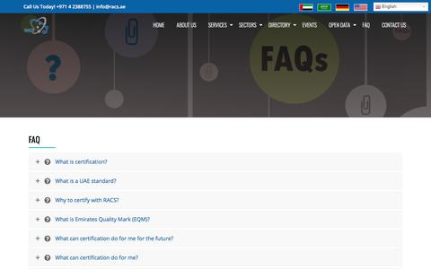 Screenshot of FAQ Page racs-me.com - FAQ - RACS - captured Oct. 19, 2017