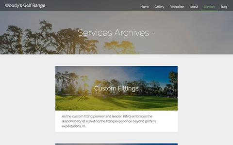 Screenshot of Services Page woodysgolf.com - Services Archives - Woody's Golf Range - captured Oct. 20, 2018