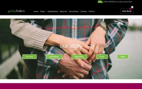 Screenshot of About Page ginnybakes.com - Online Gluten Free, Paleo & Vegan Bakery | ginnybakes - captured Oct. 26, 2016