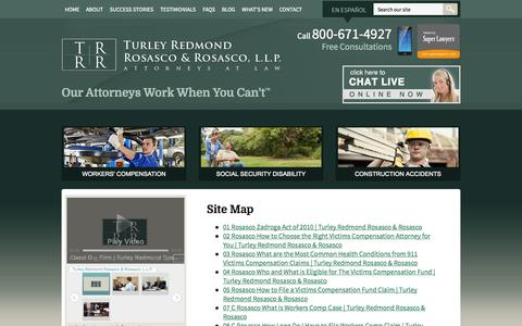 Screenshot of Site Map Page nydisabilitylaw.com - Site Map | Turley Redmond Rosasco & Rosasco, L.L.P. | Queens, New York - captured Oct. 7, 2014