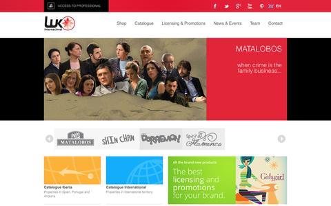 Screenshot of Home Page lukinternacional.com - LUK Internacional - captured May 21, 2016