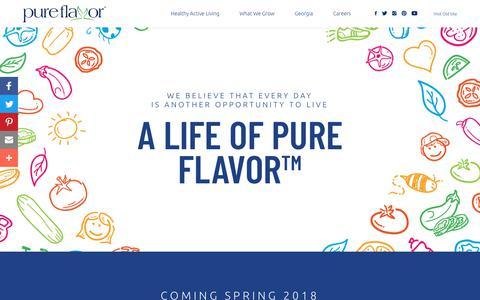 Pure Flavor® | Live Deliciously™