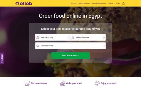 Screenshot of Login Page otlob.com - Order food online from delivery restaurants in Egypt | Otlob - captured Nov. 15, 2018