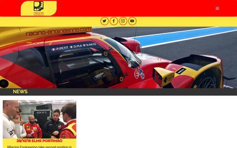 Screenshot of Press Page racing-engineering.com - Racing Engineering - captured Nov. 6, 2018