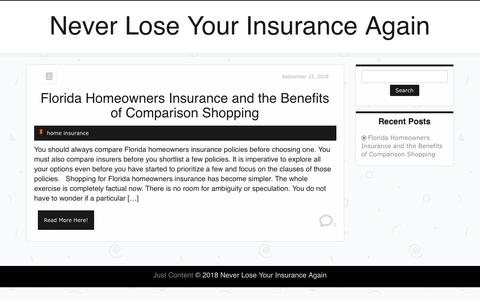 Screenshot of Home Page poconochamber.net - Never Lose Your Insurance Again - - captured Sept. 30, 2018