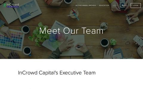 Screenshot of Team Page incrowdcapital.com - Team — InCrowd Capital - captured Feb. 10, 2016