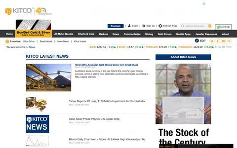 Screenshot of Press Page kitco.com - Gold News, Silver News, Interviews & Analysis | KITCO - captured Nov. 7, 2018