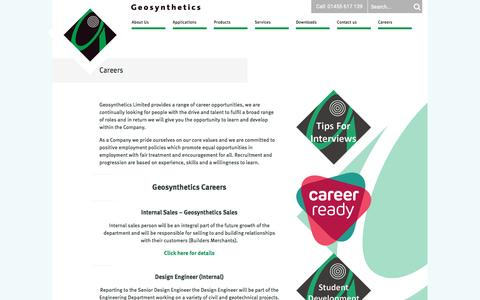 Screenshot of Jobs Page geosyn.co.uk - Geosynthetics - Careers - captured Nov. 5, 2016