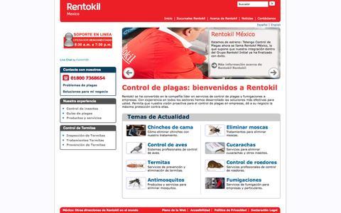 Screenshot of Home Page rentokil.mx - Control de Plagas para Empresas y Particulares | Rentokil México - captured Sept. 18, 2015