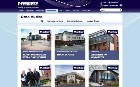 Screenshot of Case Studies Page premierekitchens.co.uk - Casestudies - Premiere - captured Oct. 2, 2014
