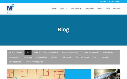 Screenshot of Blog meadesandco.co.uk - Blog - Meades & Company - captured Oct. 18, 2017