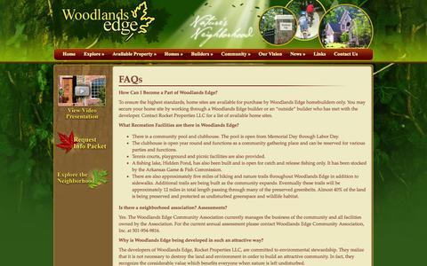 Screenshot of FAQ Page woodlandsedge.com - Woodlands Edge Questions - captured Oct. 6, 2014