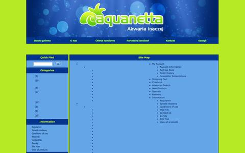 Screenshot of Site Map Page aquanetta.pl - HEAD_TITLE_TAG_SITEMAP - captured Oct. 4, 2014