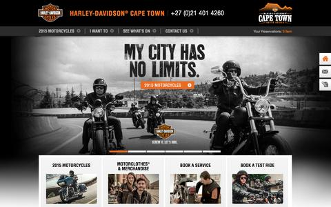 Screenshot of Home Page harley-davidson-capetown.com - Homepage | Harley-Davidson® Cape town - captured Sept. 30, 2014