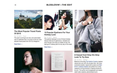 Screenshot of Blog bloglovin.com - Bloglovin'—the Edit - captured Dec. 19, 2015