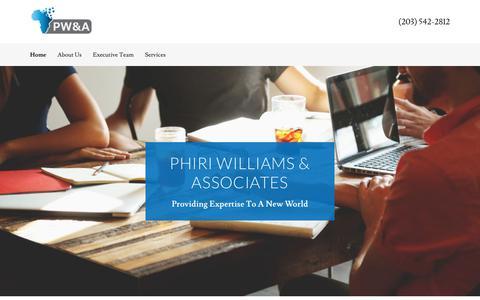 Screenshot of Home Page phiriwilliams.com - Phiri Williams & Associates - captured Sept. 28, 2018