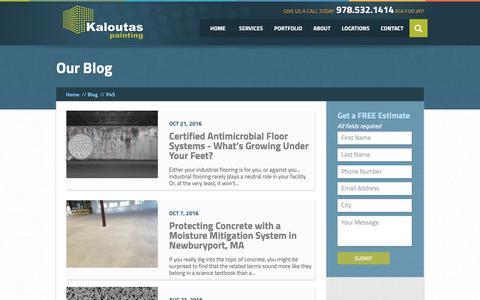 Screenshot of Blog kaloutas.com - Blog | Kaloutas Painting - captured Sept. 28, 2018