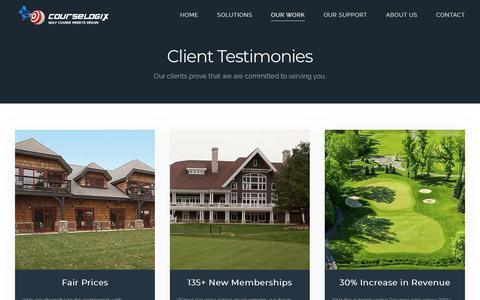 Screenshot of Testimonials Page course-logix.com - Testimonials - captured Nov. 5, 2018