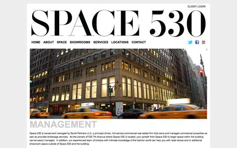 Screenshot of Team Page space530.com - Management | SPACE 530 - captured Oct. 9, 2014