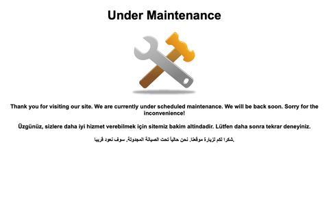 Screenshot of Home Page 377bet.com - Under Maintenance - captured April 15, 2019