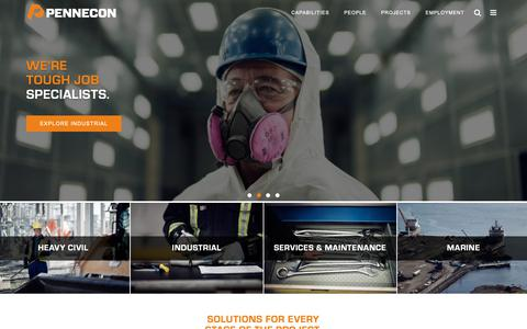Screenshot of Home Page pennecon.com - Pennecon Limited - captured Sept. 27, 2018