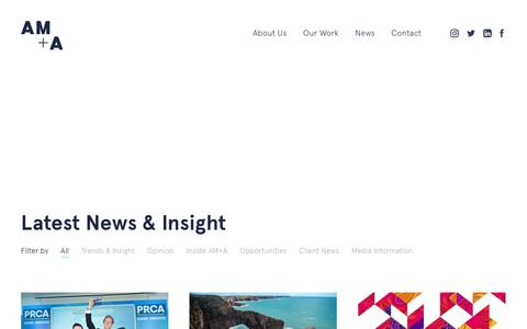 Screenshot of Press Page welcometoama.com - AMA News - captured Sept. 27, 2018