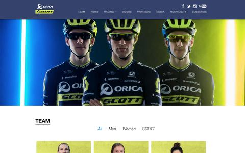 Screenshot of Team Page greenedgecycling.com - Team | ORICA-SCOTT GreenEDGE Cycling - captured May 24, 2017