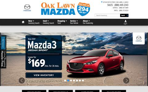 Screenshot of Home Page oaklawnmazda.com - Oak Lawn Mazda | New & Used Mazda Cars - captured June 18, 2017