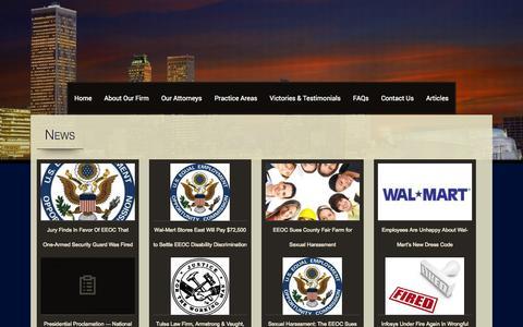 Screenshot of Press Page a-vlaw.com - News   - captured Nov. 2, 2014