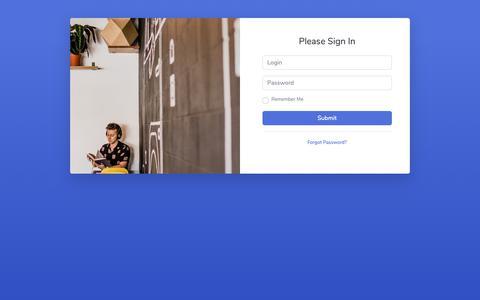 Screenshot of Home Page cartalks.me - SB Admin 2 - Login - captured May 8, 2019