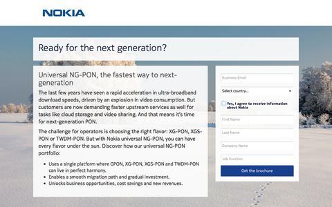 Screenshot of Landing Page nokia.com - Nokia - captured April 21, 2018