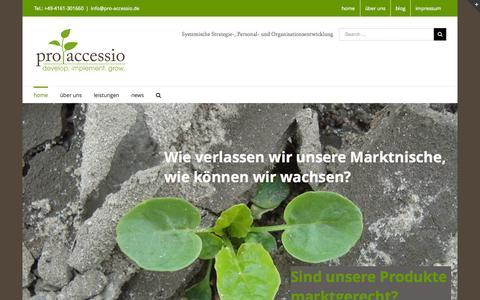 Screenshot of Home Page pro-accessio.de - pro accessio GmbH & Co. KG - captured Sept. 17, 2015
