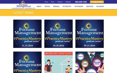 Screenshot of Press Page fortunemgmt.com - Articles   Fortune Practice Management - captured Nov. 25, 2016