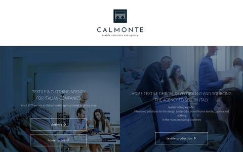 Screenshot of Home Page calmonte.it - Calmonte Fashion Textile Agency - Calmonte - captured Oct. 17, 2016