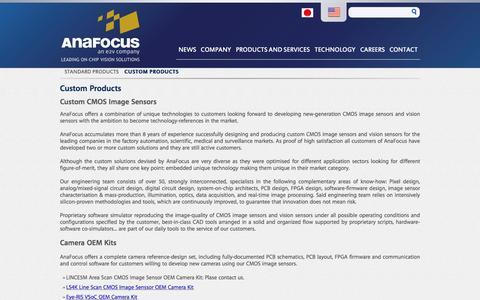 Screenshot of Products Page anafocus.com - Custom Products | AnaFocus - captured Dec. 25, 2015