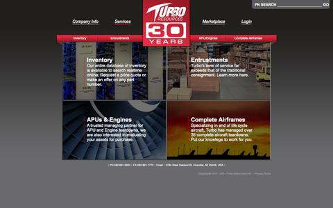 Screenshot of Services Page turboresources.com - Turbo Resources :: Services - captured Oct. 6, 2014