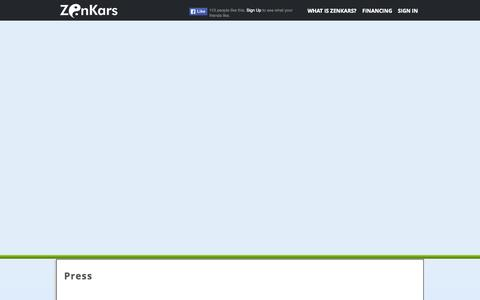 Screenshot of Press Page zenkars.com - Zenkars - captured Nov. 5, 2014