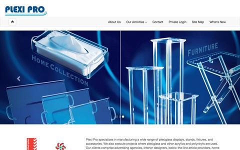 Screenshot of Home Page plexipro.com - Plexi Pro Official Website - captured July 19, 2018