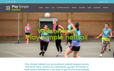 Screenshot of Home Page simplenetball.co.uk - Home - Simple Netball - captured Sept. 28, 2018