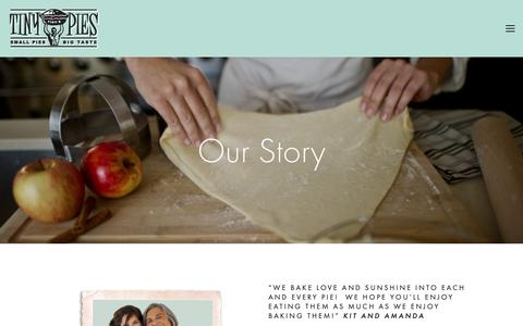 Screenshot of About Page tinypies.com - About — Tiny Pies - captured Oct. 20, 2018