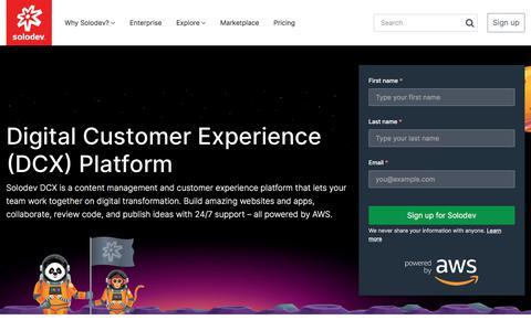 Screenshot of Home Page solodev.com - Solodev Content Management System | Solodev - captured July 30, 2019