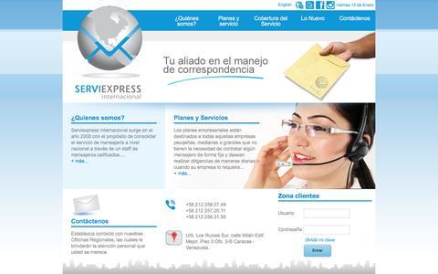 Screenshot of Home Page serviexpress-int.com - ServiExpress - captured Jan. 15, 2016