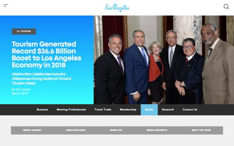 Screenshot of Press Page discoverlosangeles.com - Media | Discover Los Angeles - captured May 23, 2019