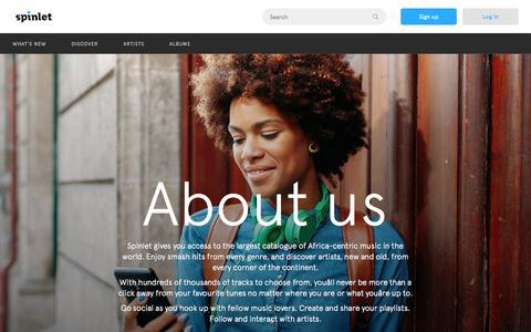 Screenshot of About Page spinlet.com - Spinlet - About us - captured Nov. 23, 2015