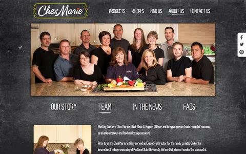 Screenshot of Team Page chezmarie.com - Team - Chez Marie - captured Oct. 2, 2014